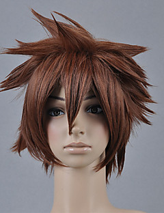 baratos Fantasias de Vídeo Games-Perucas de Cosplay Kingdom Hearts Sora Anime/Vídeo Games Perucas de Cosplay 30 CM Fibra Resistente ao Calor Homens