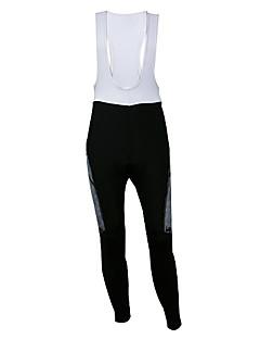 Kooplus サイクリング用ビブタイツ 男性用 バイク ビブショーツ パンツ ビブタイツ ボトムズ 保温 速乾性 耐久性 高通気性 反射性ストリップ 3Dパッド スパンデックス ポリエステル ソリッド 秋 サイクリング/バイク