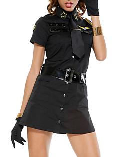 billige Sexy kostymer-uniformer Cosplay Kostumer Dame Politiuniformer Halloween Karneval Nytt År Festival / høytid Drakter