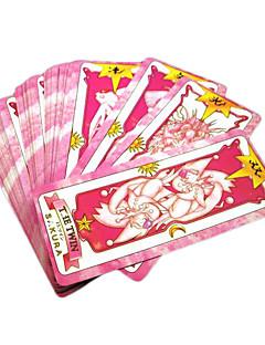 Mais Acessórios Inspirado por Cardcaptor Sakura Sakura Kinomoto Anime Acessórios de Cosplay Cartão Preto Papel Feminino