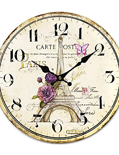 ieftine Ceasuri Din Lemn De Perete-casă de țară ceas de perete
