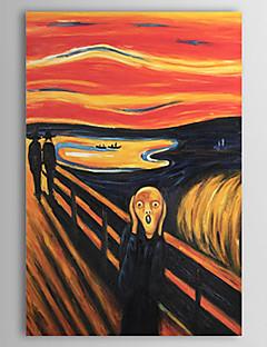 baratos Retratos Abstratos-Pintura a Óleo Pintados à mão - Famoso Contemprâneo Tela de pintura