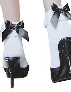 Socks/Stockings Sweet Lolita Princess Black and White Lolita Accessories Stockings Bowknot For Nylon