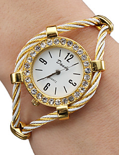 Dames Modieus horloge Armbandhorloge Kwarts Legering Band Glitter Bangle Goud