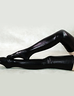 Socks/Stockings Ninja Zentai Cosplay Costumes Black White Solid Stockings Spandex Unisex Halloween