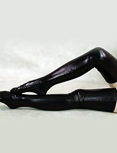 billige Zentai-Sokker og Strømpebukser Ninja Zentai Cosplay-kostymer Hvit / Svart Ensfarget Strømper Spandex Herre Dame Halloween / Høy Elastisitet