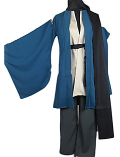 """billige Anime Kostymer-Inspirert av Nurarihyon barnebarn Kubinashi Anime  """"Cosplay-kostymer"""" Cosplay Klær / Japansk Kimono Ensfarget Langermet Frakk / Bukser / Belte Til Herre"""