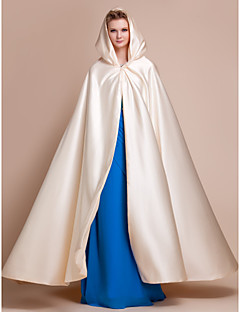 Satin Wedding Party Evening Wedding  Wraps Hoods & Ponchos Capes