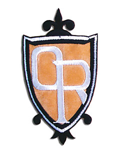 Smykker / Emblem Inspirert av High School Host Club Mitsukuni Haninozuka Anime Cosplay Tilbehør Emblem Hvit / Svart / Oransje Polyester