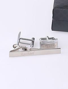 Χαμηλού Κόστους Cufflinks-Γαμπρός Κουμπάρος Ανοξείδωτο Ατσάλι Χειροπέδες & Κλιπ Γραβάτας Γάμου Γενέθλια