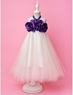 A-line prinsesse gulvlengde blomst jente kjole - tulle ermeløs halter av lan ting bride®