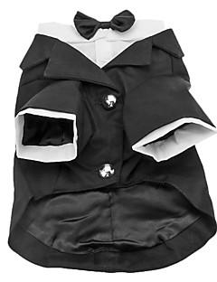 billiga Hundkläder-Hund Dräkter/Kostymer Smoking Hundkläder Enfärgad Cotton Kostym För husdjur Herr Födelsedag Cosplay Bröllop
