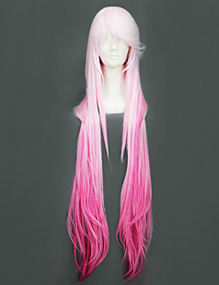 cheap Anime Cosplay-Cosplay Wigs Guilty Crown Inori Yuzuriha Anime Cosplay Wigs 110 CM Heat Resistant Fiber Women's