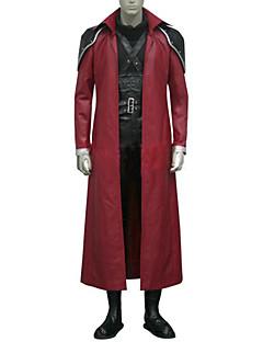Inspirert av Final Fantasy Genesis Rhapsodos video Spill Cosplay Kostumer Cosplay Suits Lapper Svart / Rød Langt ErmeKappe / قميص /