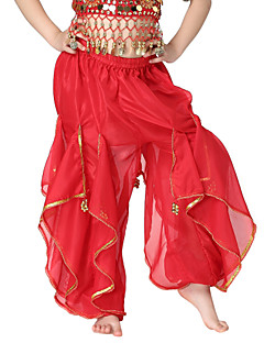 cheap Kids' Dancewear-Belly Dance Bottoms Children's Training Chiffon Coins Sequins 1 Piece Natural Pants