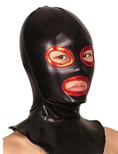 זול זנטאי (חליפות גוף)-מסכה Ninja Zentai תחפושות קוספליי שחור טלאים מסכה מתכתי מבריק בגדי ריקוד גברים בגדי ריקוד נשים האלווין (ליל כל הקדושים)