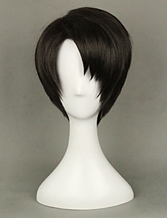 cheap Anime Cosplay Wigs-Cosplay Wigs Attack on Titan Levy Anime Cosplay Wigs 35 CM Heat Resistant Fiber Men's