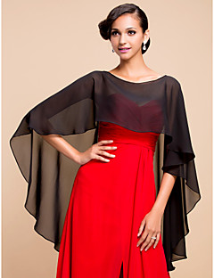 cheap Wedding Wraps-Sleeveless Chiffon Wedding Party Evening Wedding  Wraps Capelets