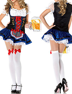 billige Halloweenkostymer-Oktoberfest bayerske Cosplay Kostumer Party-kostyme Dame Halloween Karneval Nytt År Festival / høytid Drakter Blonder