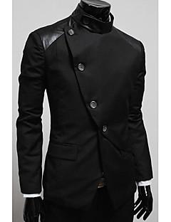 billige Herrers Moteklær-Blazer-Ensfarget Chic & Moderne Blazers Herre