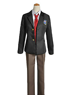 cheap Anime Cosplay-Inspired by Free! Rei Ryugazaki Anime Cosplay Costumes Cosplay Suits / School Uniforms Solid Colored Long Sleeve Coat / Shirt / Pants For