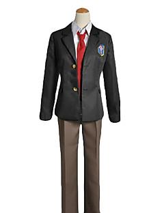 זול תחפושות משחק אנימה-קיבל השראה מ Free! Rei Ryugazaki אנימה תחפושות קוספליי חליפות קוספליי / תלבושות לבית הספר אחיד שרוול ארוך מעיל / חולצה / מכנסיים עבור