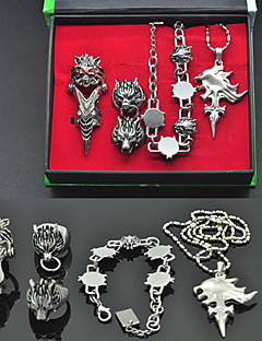 cheap Videogame Cosplay Accessories-Jewelry Inspired by Final Fantasy Squall Leonhart Anime/ Video Games Cosplay Accessories Bracelet Necklaces Alloy Men's
