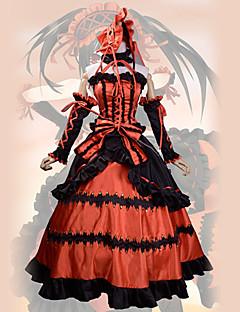 """billige Anime cosplay-Inspirert av Date A Live Kurumi Tokisaki Anime  """"Cosplay-kostymer"""" Cosplay Klær Vintage Kjole Mer Tilbehør Bånd Pannebånd Til Kvinnelig"""