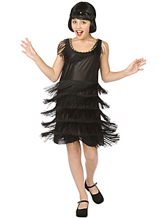 billige Halloweenkostymer-Flapper Girl Cosplay Kostumer Party-kostyme Barne 1920-tallet Den store Gatsby Halloween Barnas Dag Nytt År Festival / høytid Drakter Ensfarget