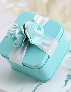 olcso Babaváró buli köszönetajándékok-Kreatív Kocka alakú/köb Anyag Favor Holder val vel Szalagok Minta Virág Ajándék dobozok Díszvedrek és bádodkannák Mások Esküvői