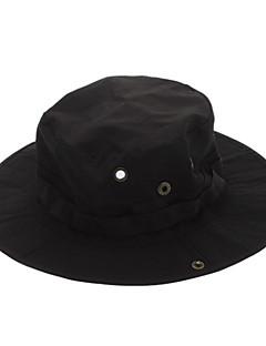 billige Clothing Accessories-Hatt til turbruk Solhatt Hatt Cap Pustende Svart Unisex Camping & Fjellvandring Ensfarget
