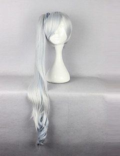 billige Anime cosplay-Cosplay Parykker RWBY Weiss Schnee Anime Cosplay-parykker 90 CM Varmeresistent Fiber Dame
