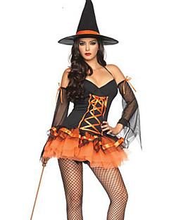 billige Voksenkostymer-Trollmann/heks Cosplay Kostumer Party-kostyme Dame Halloween Karneval Nytt År Festival / høytid Halloween-kostymer Ensfarget