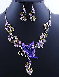 abordables Vestidos de Fiesta-Mujer Conjunto de joyas - Mariposa Vintage, Europeo Incluir Pendientes colgantes Collares con colgantes Verde / Azul / Rosa Para Fiesta Ocasión especial Cumpleaños
