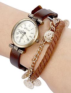 billige Armbåndsure-Dame Quartz Armbåndsur Hot Salg Bånd Bohemisk Sort Blåt Brun