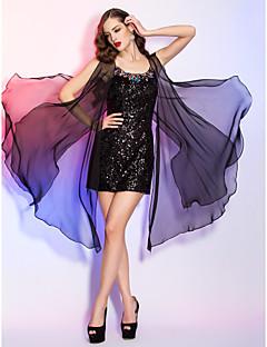 billige Paljettkjoler-Tube / kolonne Kort / mini Chiffon Paljetter Cocktailfest Ball Ferie Kjole med Krystalldetaljer av TS Couture®
