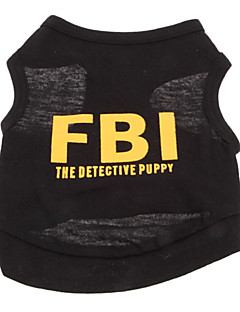billiga Hundkläder-Hund T-shirt Hundkläder Bokstav & Nummer Polis/Militär Svart Gul Svart/Gul Cotton Kostym För husdjur Herr Semester Mode