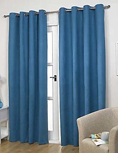 billige Gardiner-Stanglomme Propp Topp Fane Top Dobbelt Plissert To paneler Window Treatment Moderne Ensfarget Stue Polyester Materiale gardiner gardiner