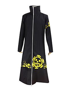"""billige Anime Kostymer-Inspirert av One Piece Trafalgar Law Anime  """"Cosplay-kostymer"""" Cosplay Klær Ensfarget Langermet Frakk Til Herre"""