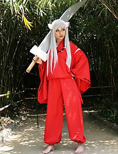 """Inspirert av InuYasha Inu Yasha Anime  """"Cosplay-kostymer"""" Cosplay Klær Japansk Kimono Langermet Topp Bukser Belte Til Mann Kvinnelig"""