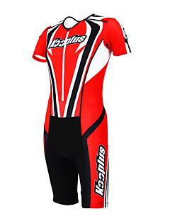 cheap Triathlon Clothing-Kooplus Tri Suit Men's Women's Unisex Short Sleeves Bike Coverall Clothing Suits Bike Wear Quick Dry Moisture Permeability Wearable