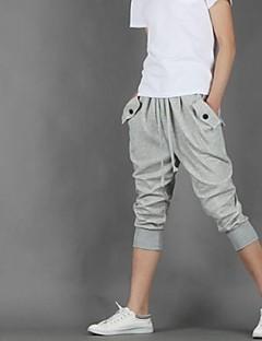 billige Herrebukser og -shorts-Herre Tynn Shorts Bukser Bomull Ensfarget