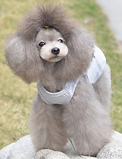 billiga Hundkläder-Katt / Hund T-shirt Hundkläder Hjärta Grå Cotton Kostym För husdjur Sommar Herr / Dam Ledigt / vardag