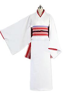 """Inspirert av Noragami Cosplay Anime  """"Cosplay-kostymer"""" Cosplay Klær Japansk Kimono EnsfargetHodeplagg Undertøy Belte Sløyfe Kimono"""