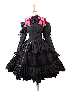 """billige Anime Kostymer-Inspirert av Date A Live Kurumi Tokisaki Anime  """"Cosplay-kostymer"""" Cosplay Klær / Kjoler Sløyfeknute Topp / Skjørte / Pannebånd Til Dame Halloween-kostymer"""