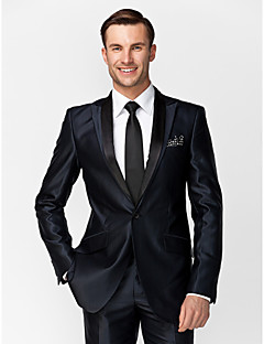 Tuxedos Tailored Fit Slim Notch Single Breasted One-button Solid
