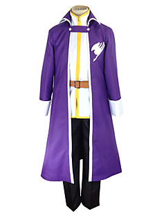 cheap Anime Costumes-Inspired by Fairy Tail Gray Fullbuster Anime Cosplay Costumes Cosplay Suits Patchwork Coat Shirt Pants Belt For Men's
