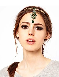 Women's Alloy Head Chain,Vintage Party All Seasons Gold