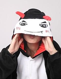 billige Kigurumi-Kigurumi-pysjamas med tøfler Djevel Monster Onesie-pysjamas Kostume Korallfleece Cosplay Til Voksne Pysjamas med dyremotiv Tegnefilm