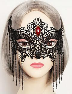 billige Masker-Cosplay Maske Unisex Halloween Karneval Festival / høytid Halloween-kostymer Drakter Svart Ensfarget Blonder